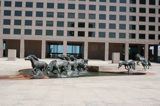 Irving, TX : mustangs at Williams Square