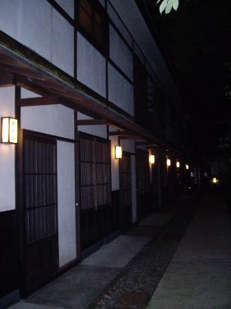 Hatago Ichinoyu: ちょっと怖い感じもする夜の外見です。