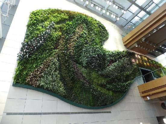 Hotel ICON : The vertical garden in the lobby