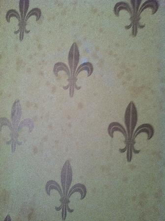 Lawlor's Hotel Dungarvan: Damp coming through wallpaper