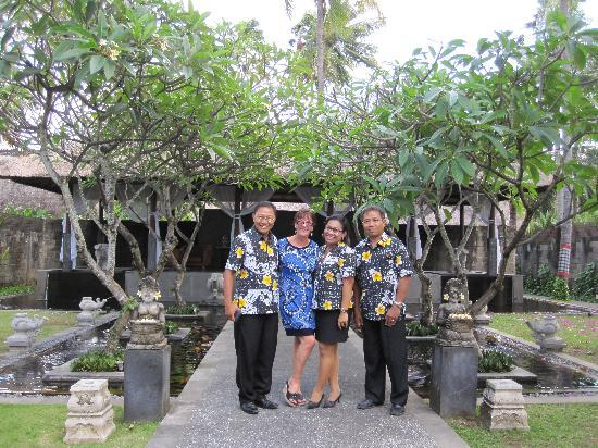 Legian Beach Hotel: Myself and members of the Management Team
