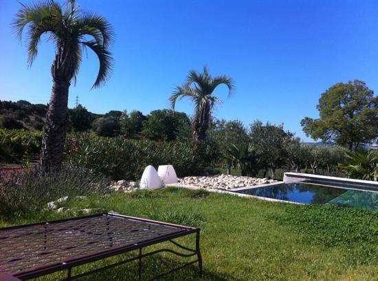 La Bastide du Clos des Roses : depuis un transat au bord de la piscine