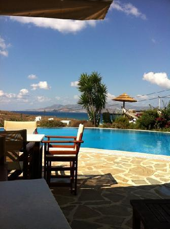 Yria Island Boutique Hotel & Spa: Breakfast by the pool