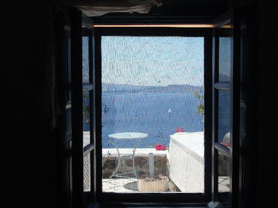 Lava Oia's: The view from the bedroom window