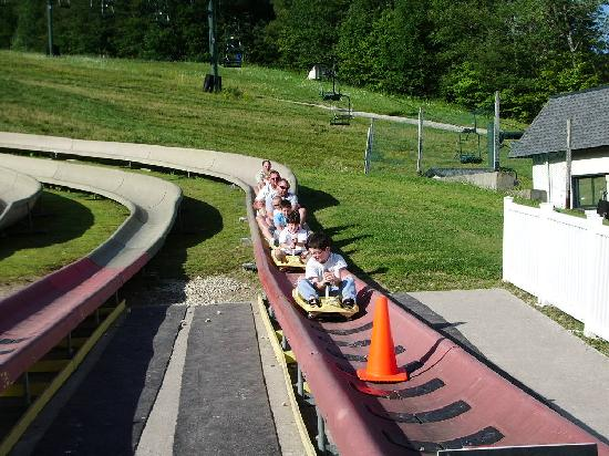 Bromley Mountain: First time on the alpine slide