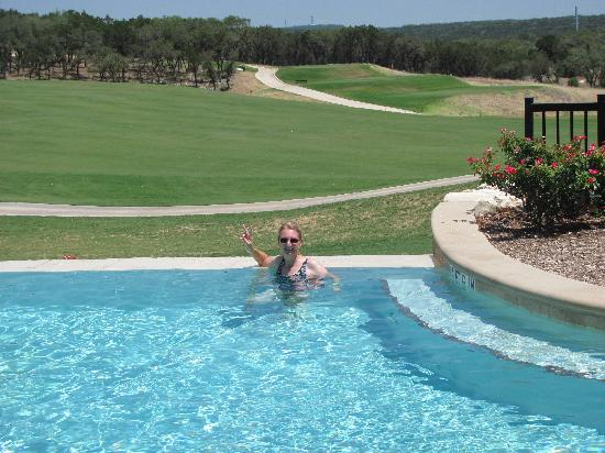 Adults only infinity pool overlooking pga course picture for Pool show san antonio