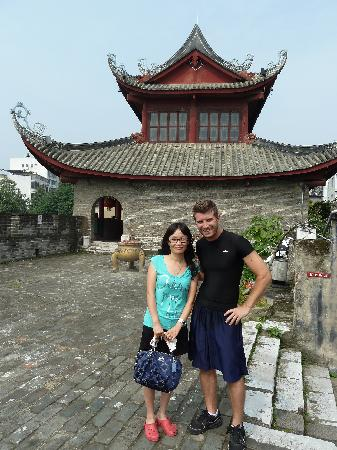 East Gate Tower of Liuzhou : Up on the ramparts of the wall