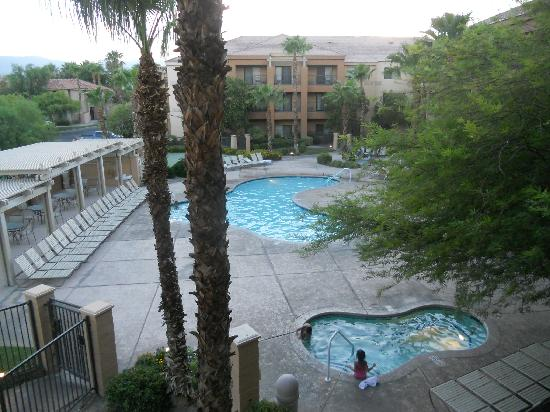 Courtyard Palm Desert: View of pool from my room