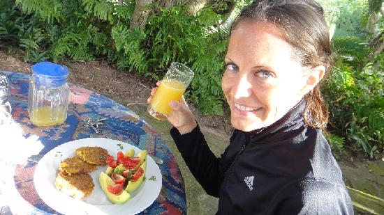 Ocean Grove Guest House: yummy vegan breakfast especially made with best ingredients (all healthy)