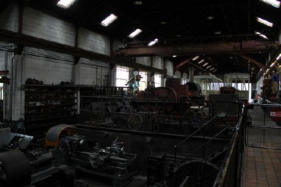 Merthyr Tydfil, UK : The workshop before the entering the platform