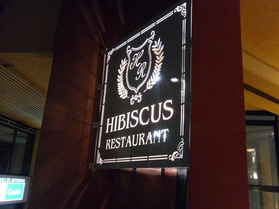 Ristorante Hibiscus: l'insegna esterna