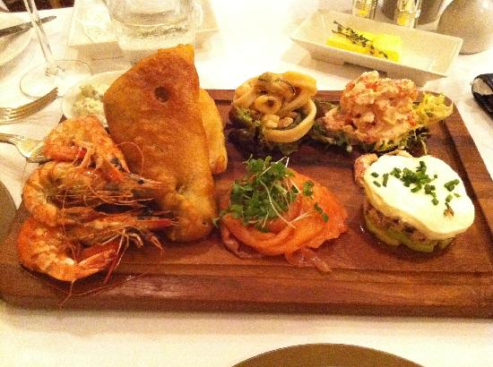 The Bull at Burford : Wonderful seafood platter