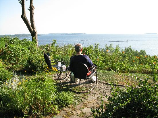 One of a Kind Bed and Breakfast : Lake Champlain from the garden