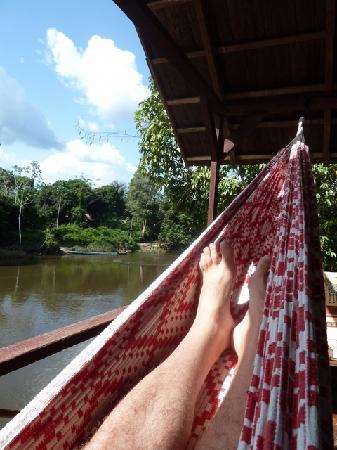 Awarradam Jungle Lodge : Reading a book in the Hammock in front of your private Cabana