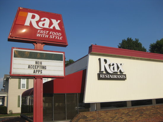 Rax Restaurant: Salad bar painted over on the sign