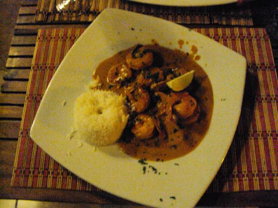 Plazita Limena: Spicy shrimp
