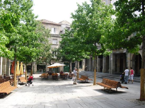 Hotel Ruas: Exterior terraza