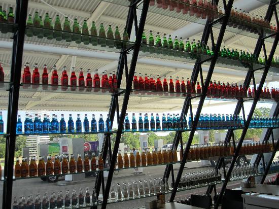 Pops: Window display of bottles