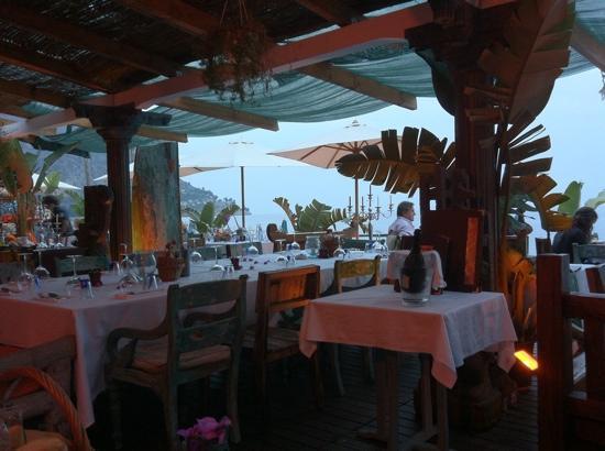 Anjuna Beach: the restaurant at sunset