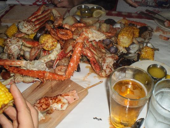 The Crab Pot Seafood Restaurant Feast
