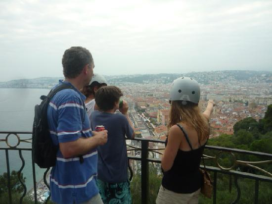 Nice Cycle Tours: Looking over Nice