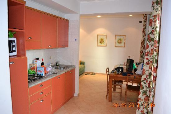 Crosti Apartments Hotel Rome: Kitchen  and Living Area