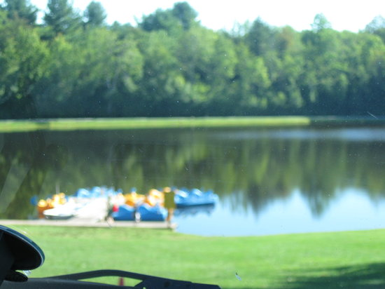 Yogi Bear's Jellystone Park at Birchwood Acres: Pond with paddle boats & fishing