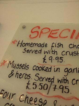 Fat Fish Cafe: More Daily Specials