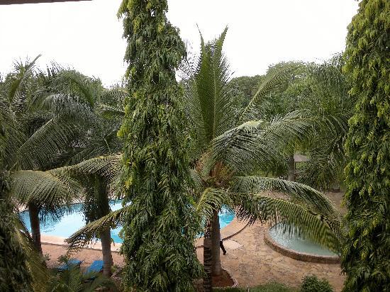 Hotel African Pearl : vista dal balcone della camera (ultimo piano)