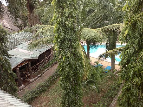 Hotel African Pearl: vista dal balcone della camera (ultimo piano)