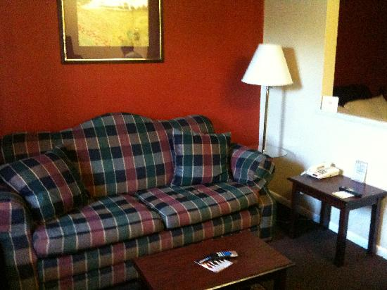 Days Inn Suites Fredericksburg: Comfortable Living Room