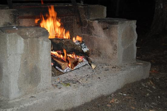 Nick's Lake Campground: The fire pit
