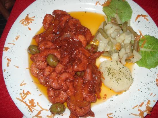 Las Marias Restaurant & Grill: Camaroes ao molho picante