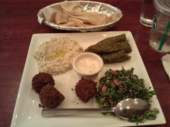 Gazala Place: Veggie Combo - the baba ghanouj is the best I've tasted