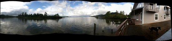 Inn at Skamokawa Landing: a panorama from the dock
