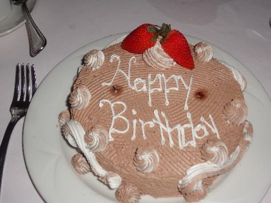 Couples Sans Souci: Happy Birthday cake the staff surprised my husband