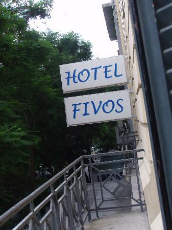 Hotel Fivos: ¿que mas agregar? vista desde la habitacion