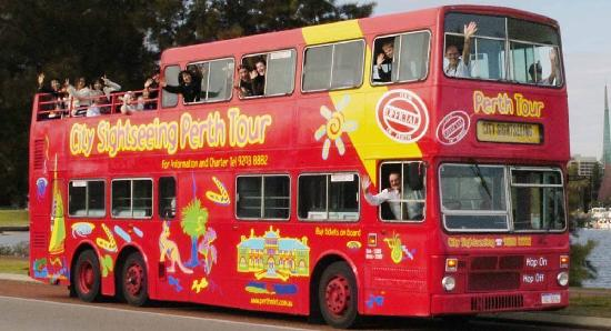 Perth Explorer: One of the world famous open top double deckers!