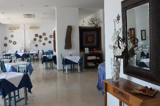 Lindos Sun Hotel : la sala colazione e cena