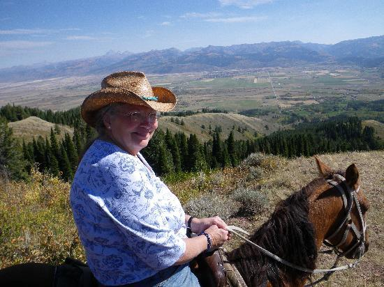 Bagley's Teton Mountain Ranch: Teton Valley from above