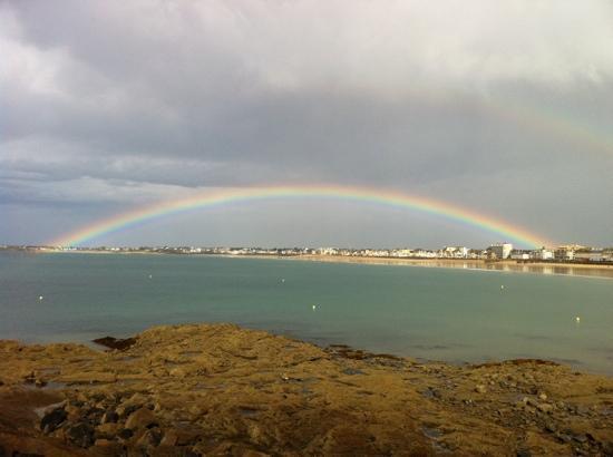 Villa Albizia : Rainbow at St.Malo