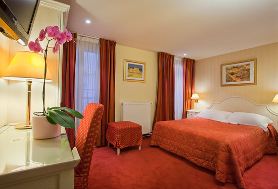 Austin's Arts et Metiers Hotel : DOUBLE RED ROOM
