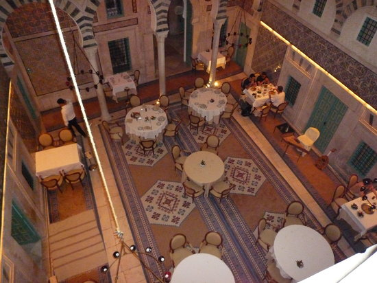 Dar Hamouda Pacha : la salle du restaurant
