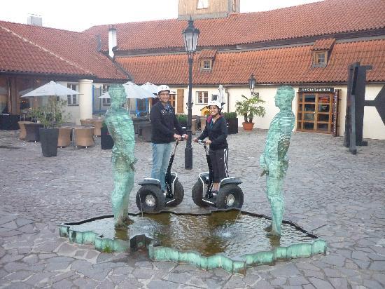 Segway Rent Prague : Pissing boys