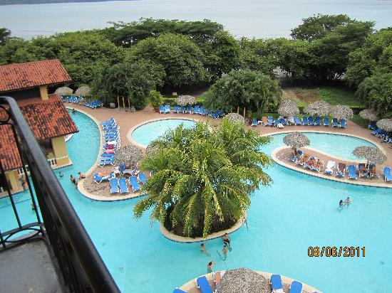 Allegro Papagayo: VIEW FROM TOWER OF POOL