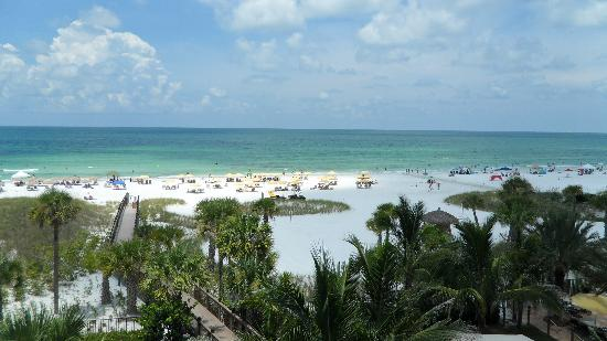 Hyatt Residence Club Sarasota, Siesta Key Beach: Beach view from our balcony