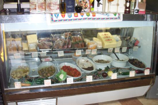 Saladino's Italian Market: Marinated olives, artichokes, mushrooms, domestic & imported cheeses