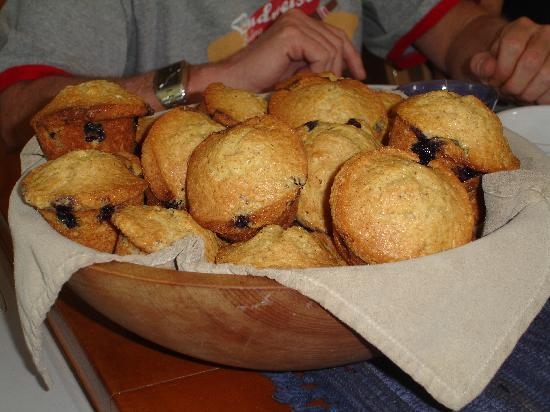 Wilson Ranches Retreat Bed & Breakfast: Nancy's delicious muffins !