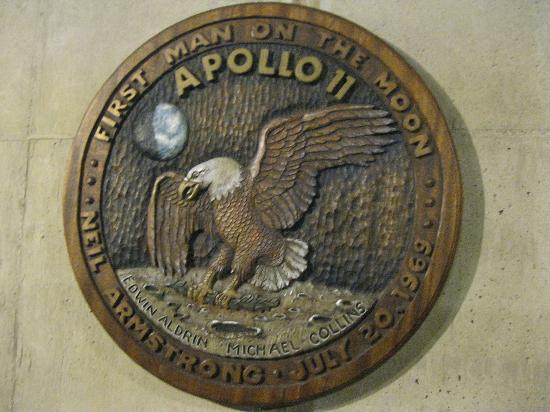 Armstrong Air & Space Museum: The seal dedicated to the lunar mission