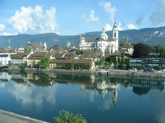 Solothurn, Schweiz: Aussicht vom Zimmer